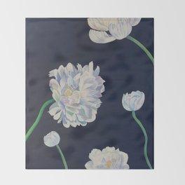 Chrysanthemum Stages Throw Blanket