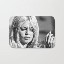 Brigitte Bardot with Cigarette Retro Vintage Art Bath Mat