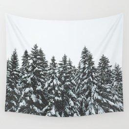 SNOWY TREETOPS Wall Tapestry