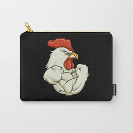 Rooster At The Gym   Fitness Training Muscles Carry-All Pouch