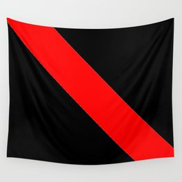 Oblique red and black Wall Tapestry