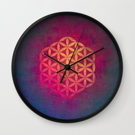 Flower Of Life (Light Within) Wall Clock