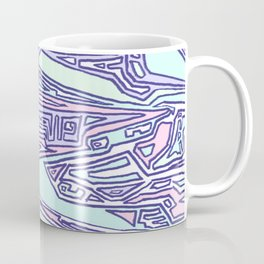 Purple Crazy Hand Drawn Pattern Coffee Mug