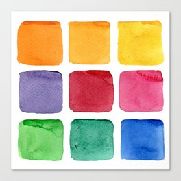 abstract color squares  Canvas Print