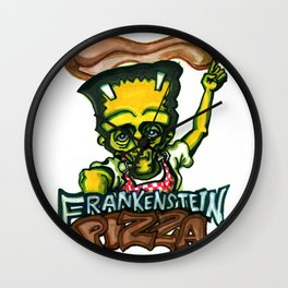 Frankenstein Pizza Wall Clock