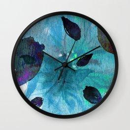 Watercolor Teal Mirage Wall Clock