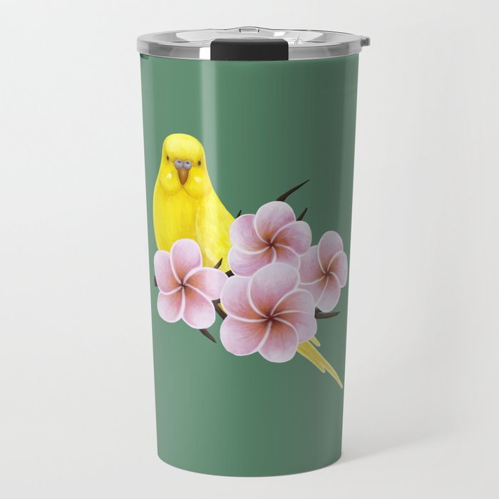 Yellow Budgerigar Travel Mug