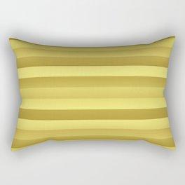Antique Rose Gold and Copper Jumbo Beach Stripes Rectangular Pillow