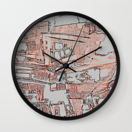 Apartments in the Sky. Wall Clock