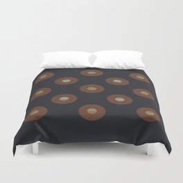 black coffee || moon drops Duvet Cover