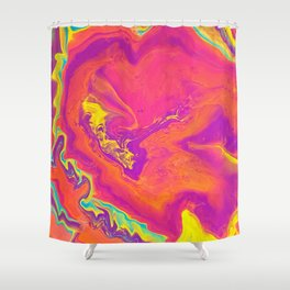 Acrylic pour psychedelia Shower Curtain