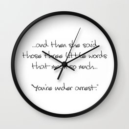 Three Little Words Wall Clock