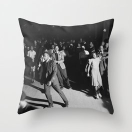 Roller skating on Saturday night in Chicago, 1940s Throw Pillow