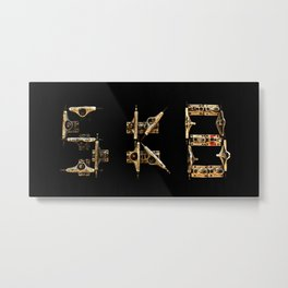 Sk8 typography Metal Print