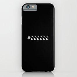 #black iPhone Case