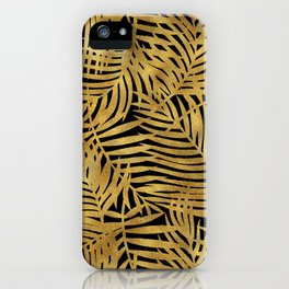 Tropical Gold Leaves iPhone Case