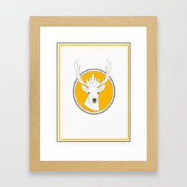 the one and only deer king Framed Art Print
