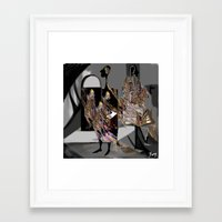 psychology Framed Art Prints featuring personality, psychology, split personality, marionettes, images, perception of reality, inner world by Ilona Reny