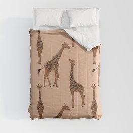 Giraffe neutral pattern Comforters