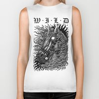 occult Biker Tanks featuring Occult horse by Iria Alcojor