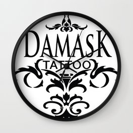 Damask Tattoo  Wall Clock