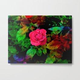 The Technicolor Rosebush Metal Print