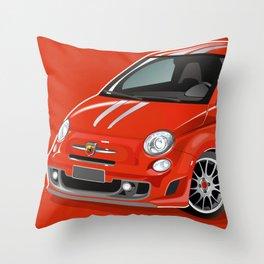 FIAT Abarth 500 Throw Pillow