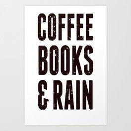 COFFEE BOOKS _ RAIN (VINTAGE) T-SHIRT Art Print