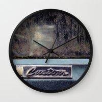 custom Wall Clocks featuring Custom by PlaidRed