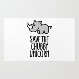 Save the chubby unicorn Rug