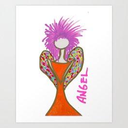 Orange Angel Art Print