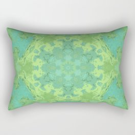 Verdant Mandala Rectangular Pillow