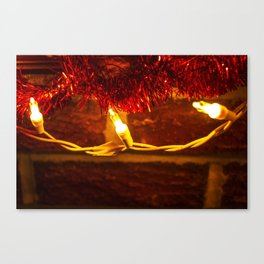 Lights and Garland 2 Canvas Print