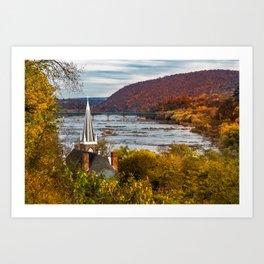 Harpers Ferry, West Virginia Art Print
