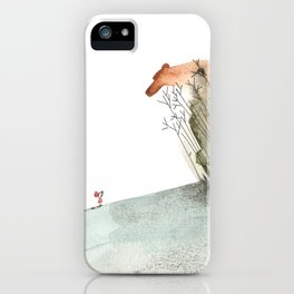 Meeting the Bear of the forest iPhone Case