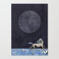 run Canvas Prints featuring Run by N Li