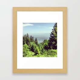 Lac Leman in the horizon Framed Art Print