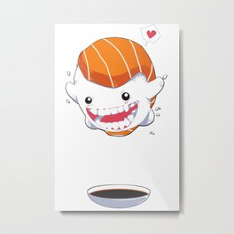 Sushi Cannonball Metal Print