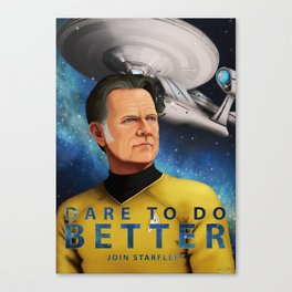 Dare To Do Better Canvas Print