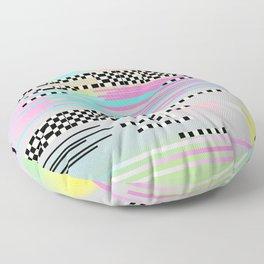 Glitch art effect Floor Pillow