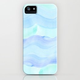 water color waves iPhone Case
