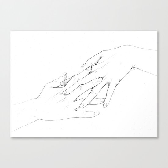 Untitled Hands No. 5 Canvas Print