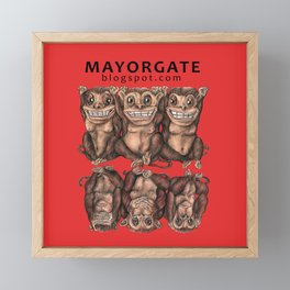 Emancipated Monkeys  Framed Mini Art Print