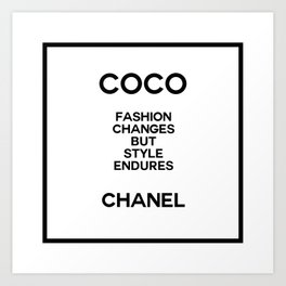 coco quote no. 10 Art Print