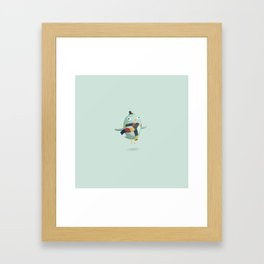Monster Birdlady Framed Art Print