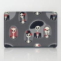 dia de los muertos iPad Cases featuring Dia de Los Muertos by Julie's Fabrics & Thingummies