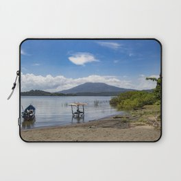 Island View Back Towards Mombacho Volcano on Lake Nicaragua Laptop Sleeve