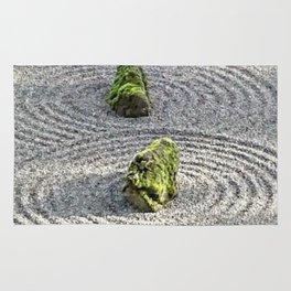 Japanese Stone and Sand Garden Rug