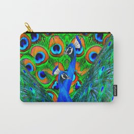BLUE PEACOCKS PATTERN DESIGN Carry-All Pouch