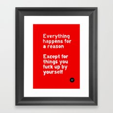 By Yourself Framed Art Print